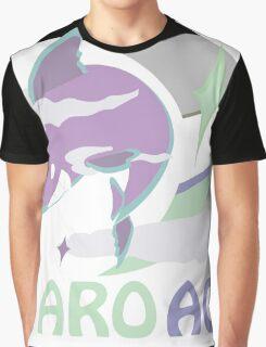 AroAce Pride Sky Shark Graphic T-Shirt