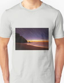 Startrail in the beach after Sunset Unisex T-Shirt