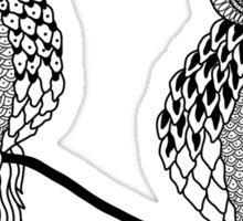 Grumpy owls Sticker