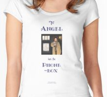 Castiel Has The Phonebox Women's Fitted Scoop T-Shirt