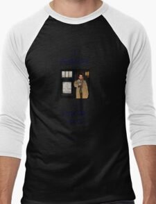 Castiel Has The Phonebox Men's Baseball ¾ T-Shirt