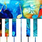 Colorful Piano Art by Sharon Cummings by Sharon Cummings