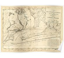 American Revolutionary War Era Maps 1750-1786 009 A chart of the bay and harbour of Pensacola in the Province of West Florida Poster