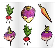 Vegetable Pattern Poster