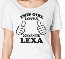 This Girl Loves Commander Lexa LGBT Pride Women's Relaxed Fit T-Shirt