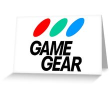 Sega Game Gear Logo Greeting Card