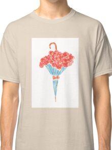 Umbrella full of flowers Classic T-Shirt