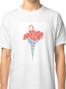 Umbrella full of flowers Classic T-Shirt