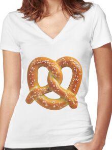 Pretzel  Women's Fitted V-Neck T-Shirt
