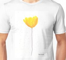 Yellow tulip watercolour Unisex T-Shirt