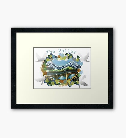 The Valley day Framed Print