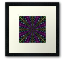 Spear Points in Purple and Green Framed Print