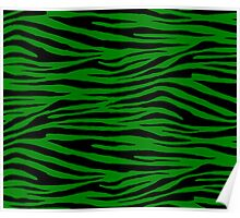 0013 Ao, Green (HTML/CSS Color or Office Tiger Poster