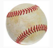 Baseball ball over white Kids Tee