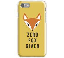 Zero Fox Given iPhone Case/Skin
