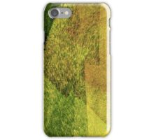 Cool, unique modern green black abstract painting art design iPhone Case/Skin