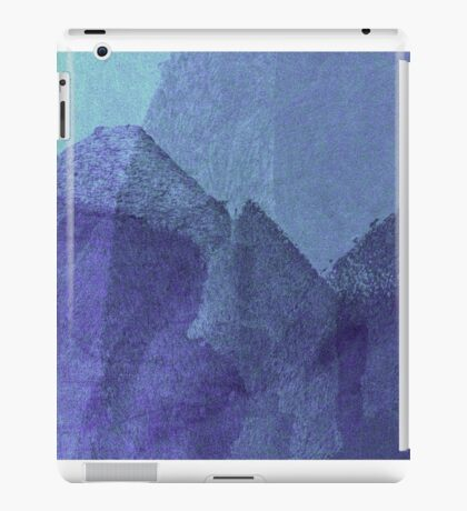 Cool, unique modern blue abstract painting art design iPad Case/Skin