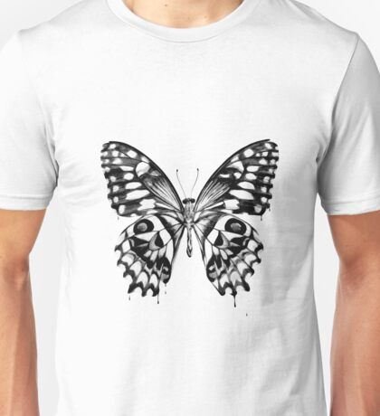 Black butterfly Unisex T-Shirt