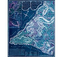 American Revolutionary War Era Maps 1750-1786 224 A plan of the city of New York & its environs to Greenwich on the North or Hudsons River and to Crown Point Inverted Photographic Print