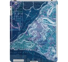American Revolutionary War Era Maps 1750-1786 224 A plan of the city of New York & its environs to Greenwich on the North or Hudsons River and to Crown Point Inverted iPad Case/Skin