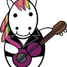 Unicorn Kawaii Punk Guitarist by ValeriesGallery
