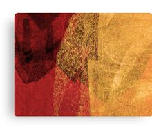 Cool, unique modern red yellow abstract painting art design Canvas Print