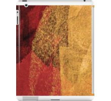 Cool, unique modern red yellow abstract painting art design iPad Case/Skin