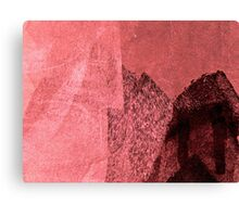 Cool, unique modern pink black abstract painting art design Canvas Print
