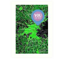 You are here, Boston old map Art Print