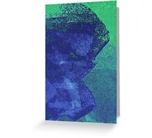 Cool, unique modern green blue abstract painting art design Greeting Card