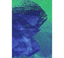 Cool, unique modern green blue abstract painting art design Photographic Print
