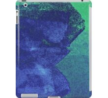 Cool, unique modern green blue abstract painting art design iPad Case/Skin