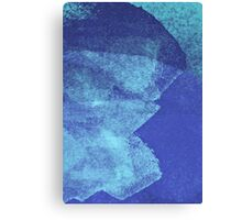 Cool, unique modern abstract blue ocean painting art design Canvas Print
