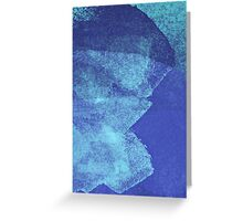Cool, unique modern abstract blue ocean painting art design Greeting Card