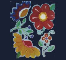 Flowers, flowers acrylic painting One Piece - Short Sleeve