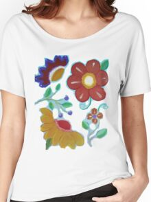 Flowers, flowers acrylic painting Women's Relaxed Fit T-Shirt