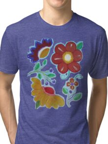 Flowers, flowers acrylic painting Tri-blend T-Shirt