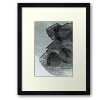 Cool, unique modern grey black abstract painting art design Framed Print