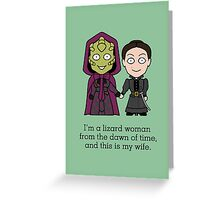Madame Vastra and Jenny Greeting Card