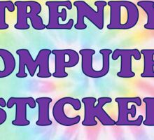 TRENDY COMPUTER STICKER TYE DYE  Sticker