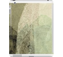 Cool, unique modern green black abstract painting art design iPad Case/Skin