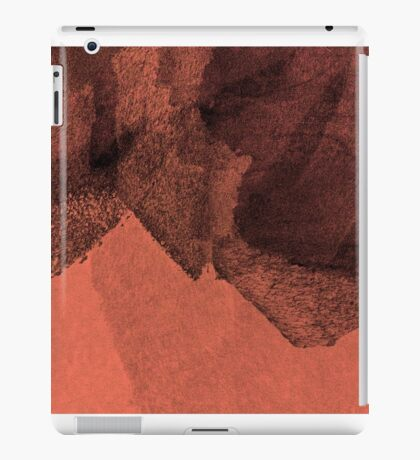 Cool, unique modern red black abstract painting art design iPad Case/Skin