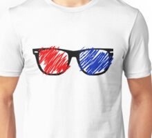 3D Glasses Unisex T-Shirt