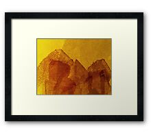 Cool, unique modern orange yellow abstract painting art design Framed Print