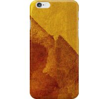 Cool, unique modern orange yellow abstract painting art design iPhone Case/Skin