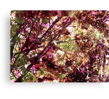 Cool, unique modern nature tree abstract digital art design Canvas Print