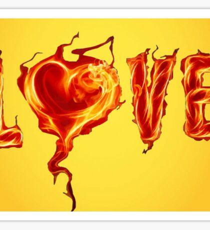 Burning love Sticker