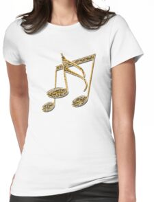"""""""Golden Oldies"""" typography Womens Fitted T-Shirt"""