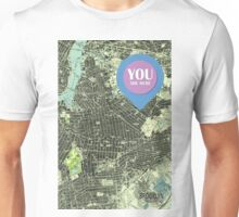 Brooklyn New York 1947 Old Map Unisex T-Shirt
