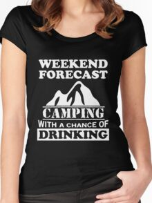 Camping with a chance of drinking Women's Fitted Scoop T-Shirt